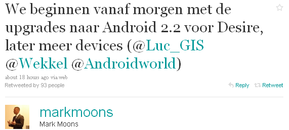 markmoon HTC Desire: Update für Android 2.2 Froyo läuft an [UPDATE 2] Handys HTC Corporation Technologie
