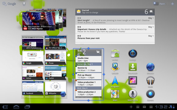 Honeycomb-3-home_full Google bringt Android 3.1 Honeycomb - auch für Google TV Google Android Software Tablet Technology