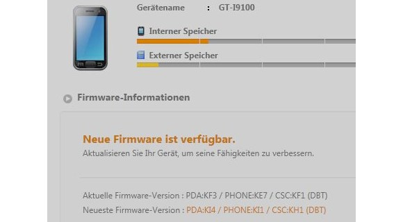 SGSII-Android-234 Samsung Galaxy SII - Android 2.3.4 Firmware-Update steht via Kies bereit Google Android Samsung Smartphones Software