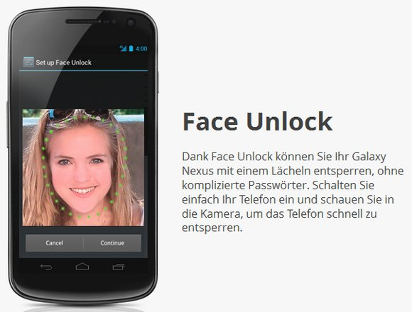 Android-4-Ice-Cream-Sandwich-Face-Unlock Android Ice Cream Sandwich Face-Unlock lässt sich doch mit Foto entsperren Google Android Software