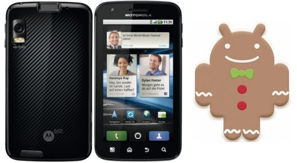 Motorola Atrix Android 2.3.4 Gingerbread Update