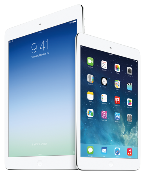 Vergleich: iPad Air Vs Retina iPad mini 2 Vs iPad mini Vs iPad 2  2