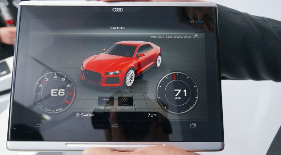 Audi-Smart-Display-2-580x320 CES 2014: Audi Smart Display - das Android-Tablet fürs Auto [Video] Google Android Tablets