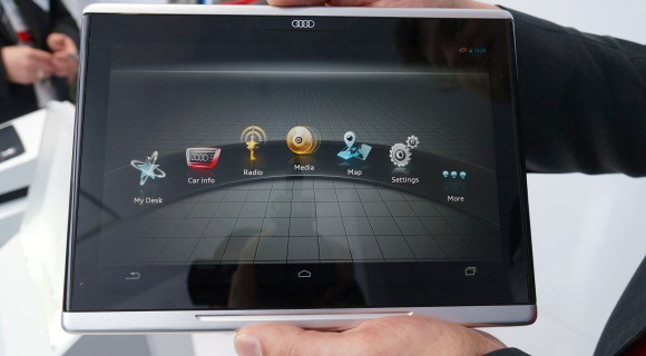 Audi-Smart-Display-4-580x320 CES 2014: Audi Smart Display - das Android-Tablet fürs Auto [Video] Google Android Tablets