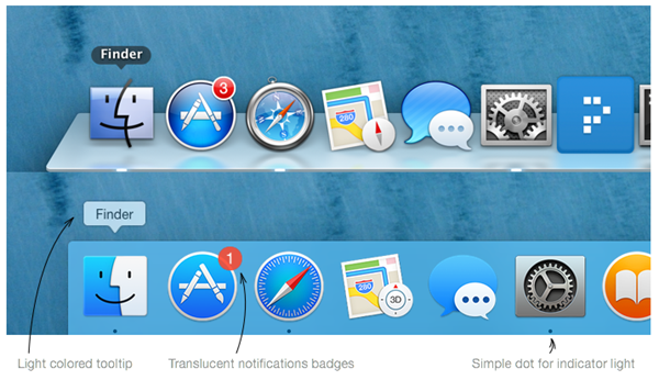 OS X Yosemite vs. Mavericks: User Interface im Vergleich [Bilder] 3