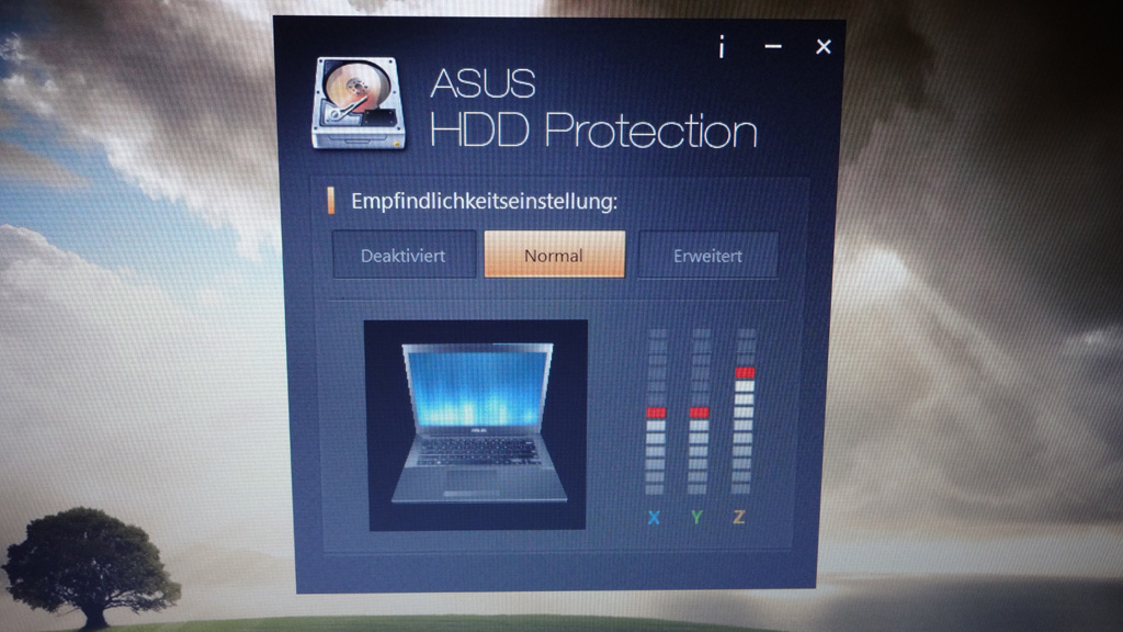 "asus-hdd-protection Robuster Allrounder im Test: Das Business-Notebook ASUSPRO Essential der P-Serie mit 13,3"" [Review] Computer Microsoft Technologie Testberichte"