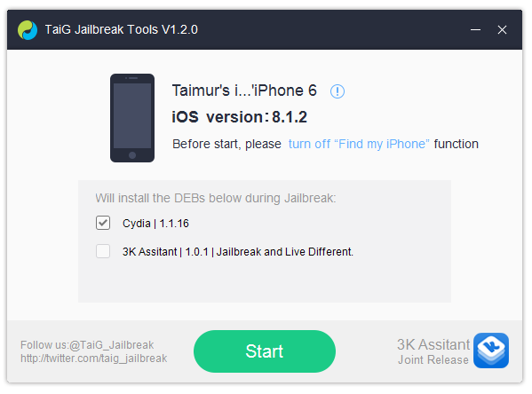 TaiG-ios-8.1.21 Jailbreak iOS 8.1.2 mit TaiG - Download & Anleitung Apple iOS Jailbreak Software