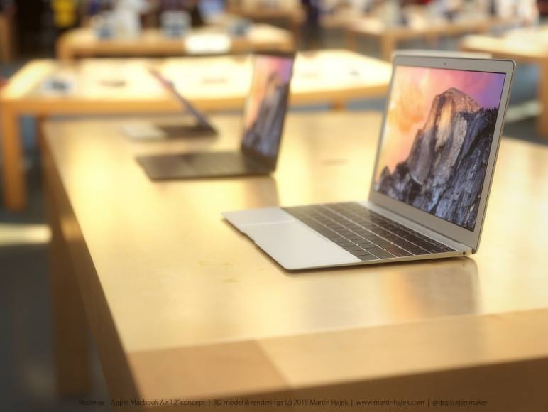 MacBook Air 2015: 3D-Konzept zeigt 12 Zoll MacBook in Gold, Silber & Space Grau [Galerie] 8