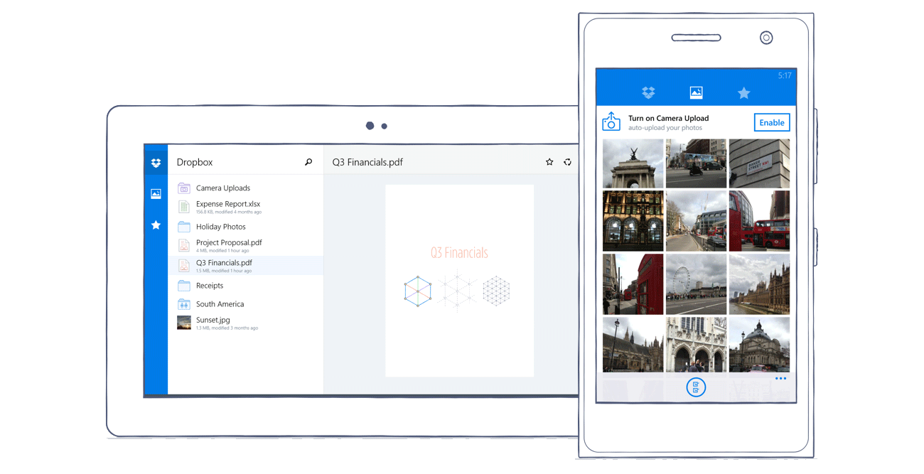 dropbox-windows-apps Dropbox für Windows-Tablets und Windows Phone erschienen Microsoft Nokia Shortnews Smartphones Software Windows Phone
