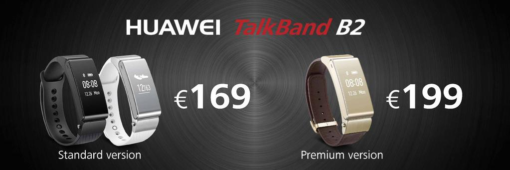 huawei-talkband-b2-preis [MWC 2015] Huawei zeigt neue Wearables TalkBand B2, TalkBand N1 & Huawei Watch Gadgets Google Android Smartphones