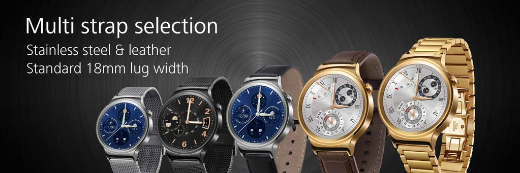 huawei-watch-armbaender [MWC 2015] Huawei zeigt neue Wearables TalkBand B2, TalkBand N1 & Huawei Watch Gadgets Google Android Smartphones