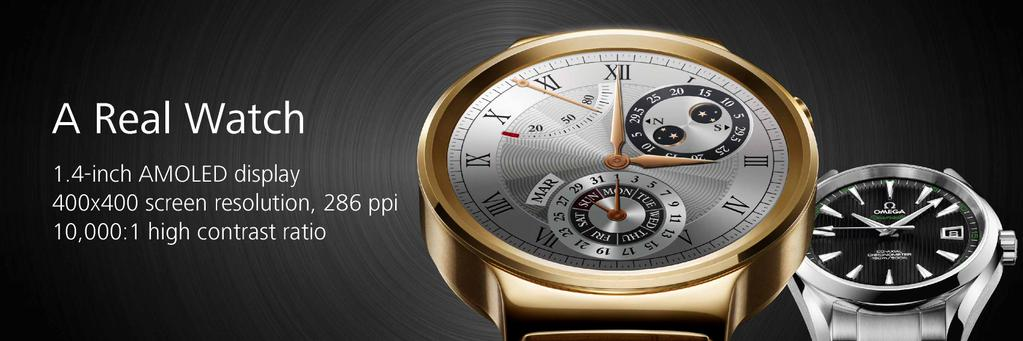 huawei-watch-specs [MWC 2015] Huawei zeigt neue Wearables TalkBand B2, TalkBand N1 & Huawei Watch Gadgets Google Android Smartphones