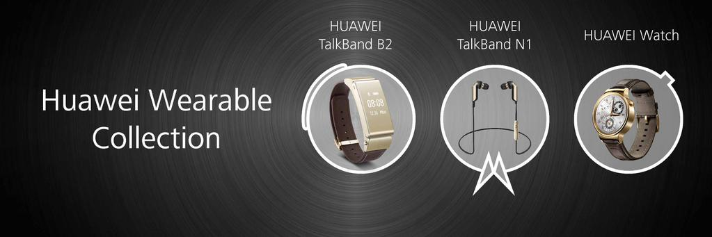 huawei-wearable-collection [MWC 2015] Huawei zeigt neue Wearables TalkBand B2, TalkBand N1 & Huawei Watch Gadgets Google Android Smartphones
