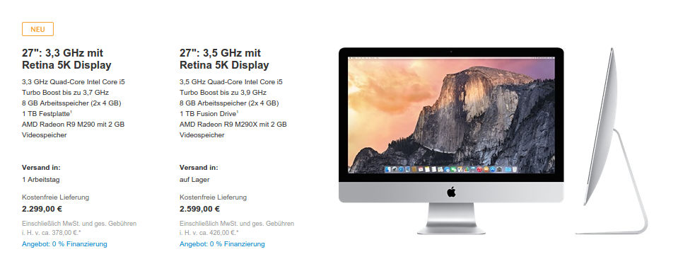 "apple-imac-retina-5k-display-mid-2015 Apple updatet Macs: Neue Prozessoren & Grafik, MacBook Pro 15"" mit Force Touch, iMac 27"" mit Retina-Display ab 2.299 € Technologie"