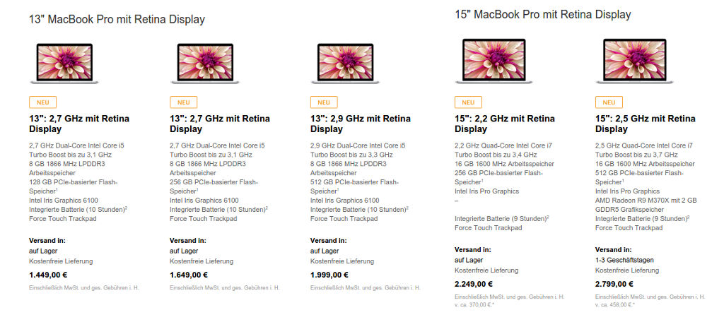 "apple-macbook-pro-mid-2015 Apple updatet Macs: Neue Prozessoren & Grafik, MacBook Pro 15"" mit Force Touch, iMac 27"" mit Retina-Display ab 2.299 € Technologie"