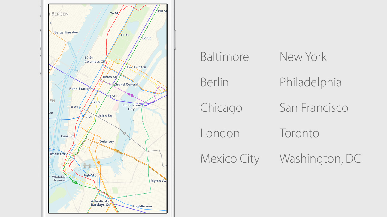 apple-ios-9-maps-transit [WWDC 2015] Apple stellt iOS 9 vor Apple iOS Apple iPad Software
