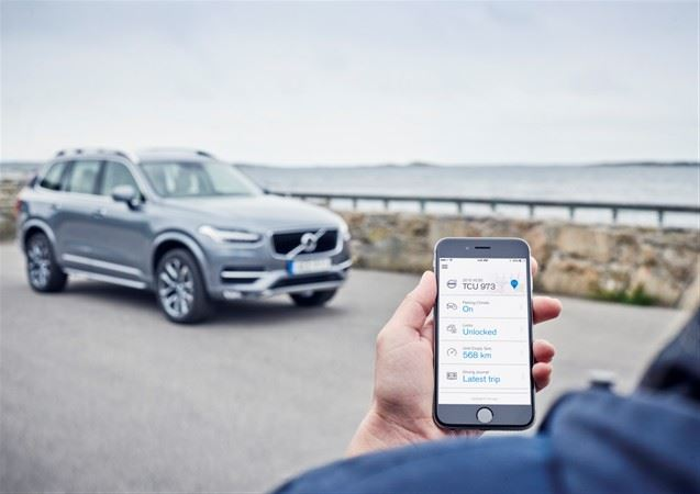 volvo-on-car-app-apple-iphone Volvo On Call künftig mit Smartwatch-Integration Apple iOS Apple iPad Gadgets Google Android Smartphones Software Technologie Windows Phone