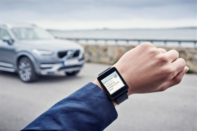 volvo-on-car-app-lg-g-watch Volvo On Call künftig mit Smartwatch-Integration Apple iOS Apple iPad Gadgets Google Android Smartphones Software Technologie Windows Phone