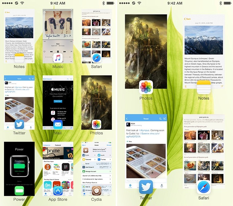 alympus-cydia-jailbreak-tweak-screens Der Alympus Jailbreak Tweak - frische Ideen zu Multitasking Apple Apple iOS Jailbreak Shortnews Smartphones