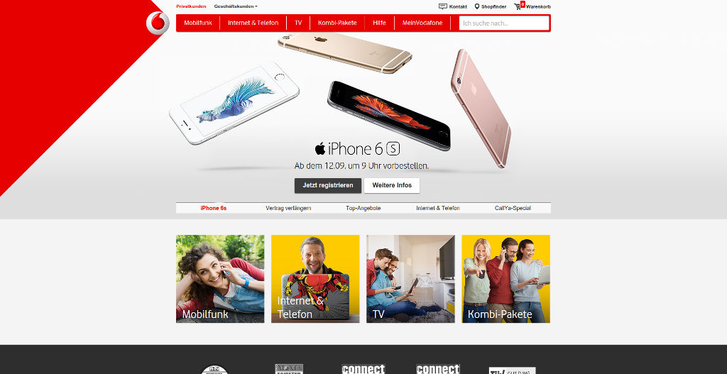 apple-iphone-6s-vodafone Apple iPhone 6s ab 12.9. um 9:01 Uhr vorbestellen Apple iOS Gadgets Smartphones Technologie Web