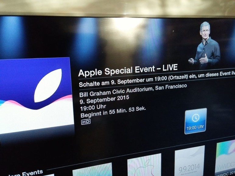 Apple iPhone 6s-Event: Live-Ticker und Live-Streams
