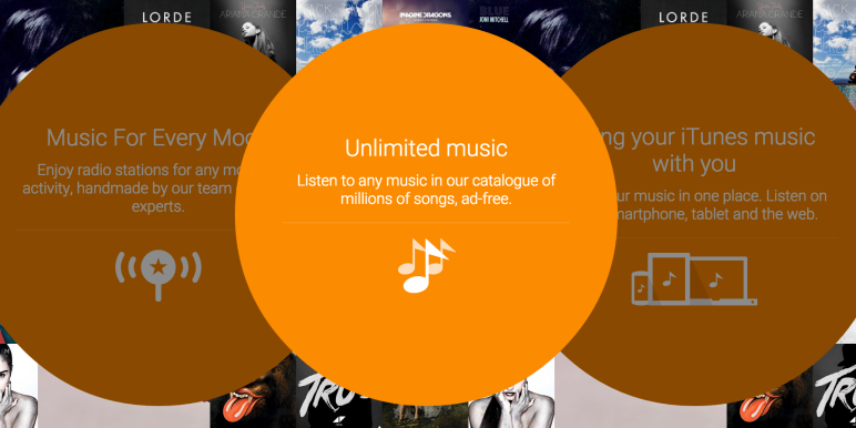 Google Play Music: Option Musikgeschenke aktiv 2