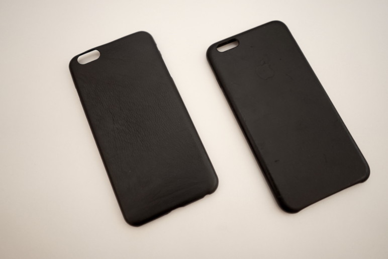 iPhone 6(S) Plus Schutzhülle: Artwizz Leather Clip vs. Apple Leder Case 5