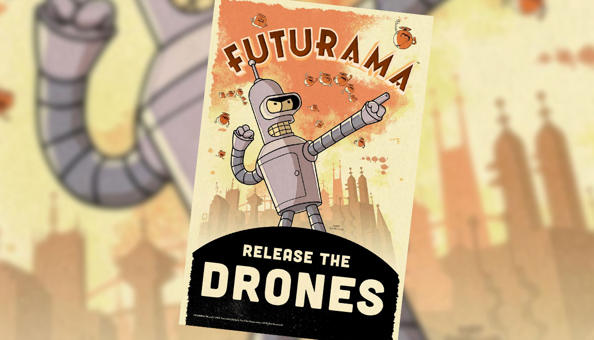 futurama_drones Futurama: Release the Drones kommt als Spiel auf die Android-Plattform Entertainment Games Google Android Smartphones Software Tablet Technology