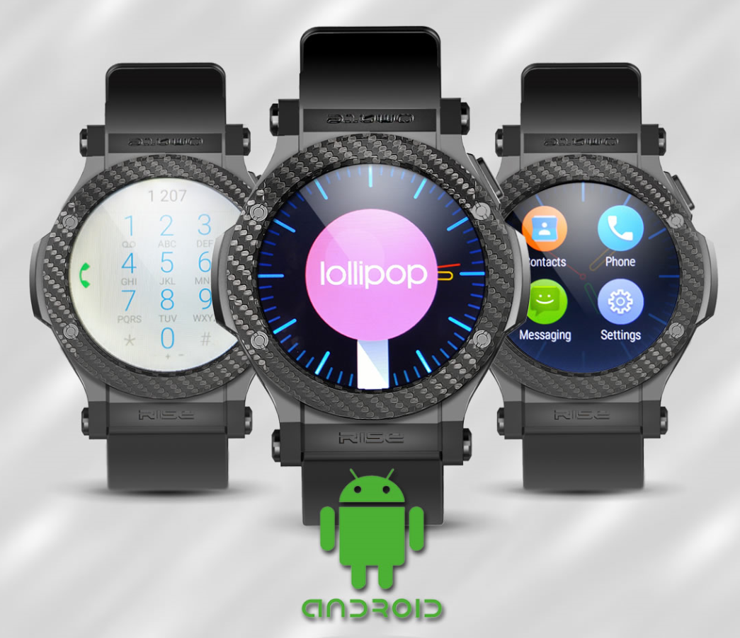 Rise-2 Omate Rise: Smartwatch mit 3G und Android 5.1 Technologie