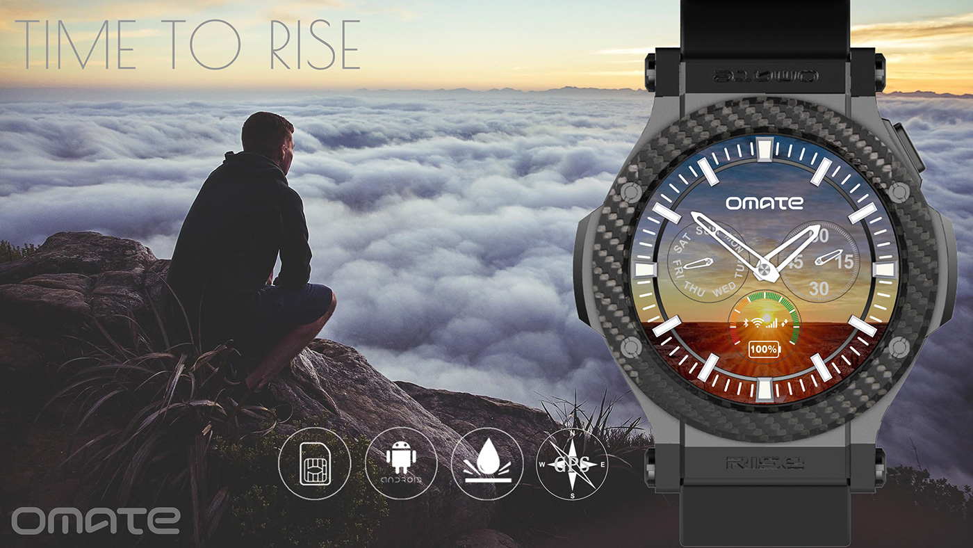 omate-rise-android-smartwatch Omate Rise: Smartwatch mit 3G und Android 5.1 Technologie