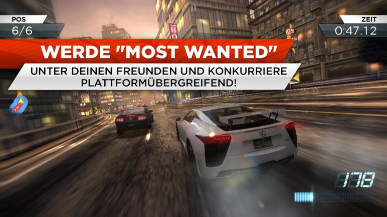 Need for Speed Most Wanted für 10 Cent im Google Play Store