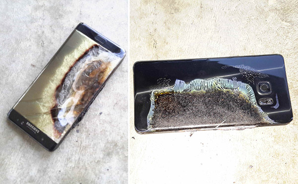 Galaxy Note 7 Samsung Battery Explode