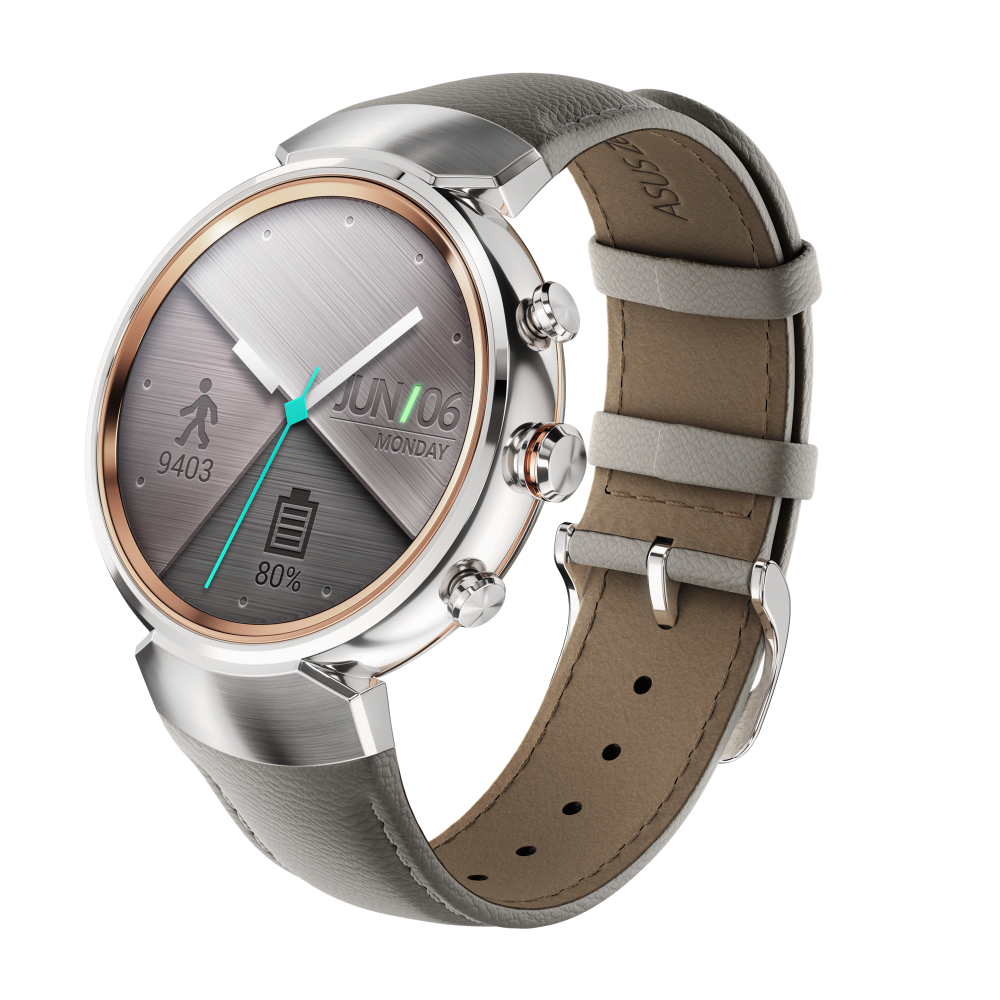ASUS ZenWatch 3 Silver mit Lederarmband