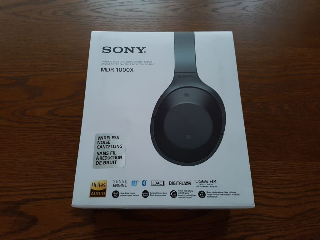 Sony MDR-1000X - Verpackung