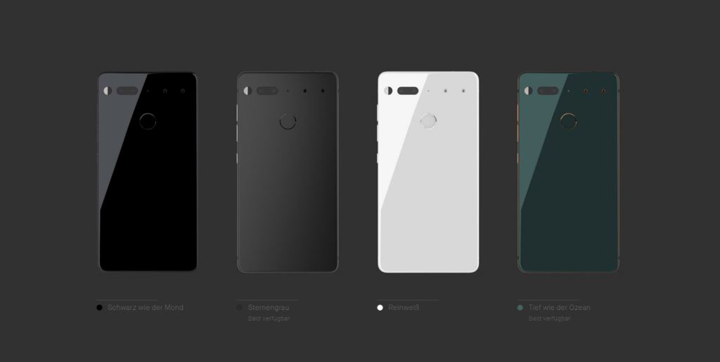 essential-phone-colors Essential Phone - ein neues Smartphone mit Randlosdesign & Modulen vom Erfinder von Android Gadgets Google Android Smartphones YouTube Videos