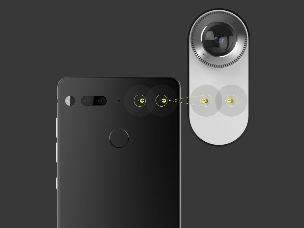 essential-phone-wireless-accessory-power-pins Essential Phone - ein neues Smartphone mit Randlosdesign & Modulen vom Erfinder von Android Gadgets Google Android Smartphones YouTube Videos