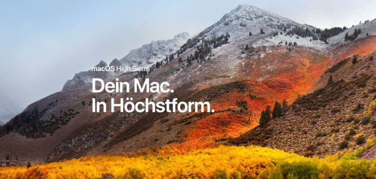 apple-macos-high-sierra-772x367 iOS 11 & macOS High Sierra - Wallpaper zum Download Software