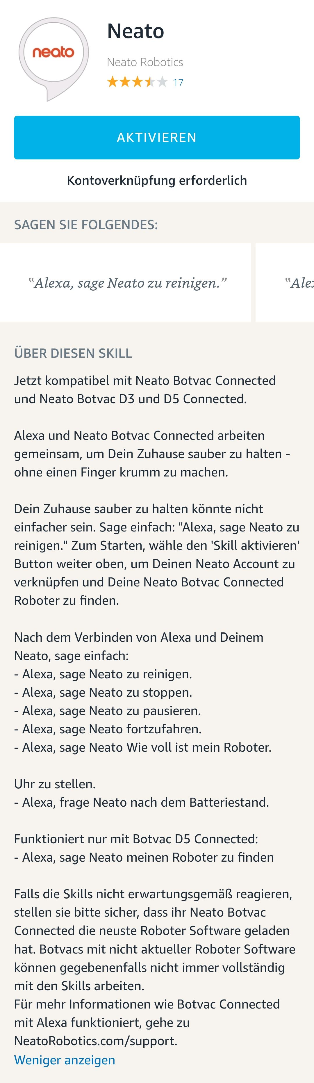 neato-botvac-connected-alexa-skill Neato Botvac D5 connected - ein Staubsaugerroboter im Test Apple iOS Featured Gadgets Google Android Hardware Reviews Smart Home Software Technology Testberichte YouTube Videos
