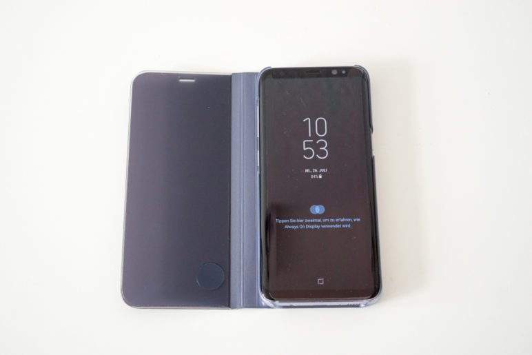 Galaxy-S8-Clear-View-Cover-Test-02038-772x515 Samsung Galaxy S8 Clear View Hülle im Test Gadgets Smartphones Technologie Testberichte