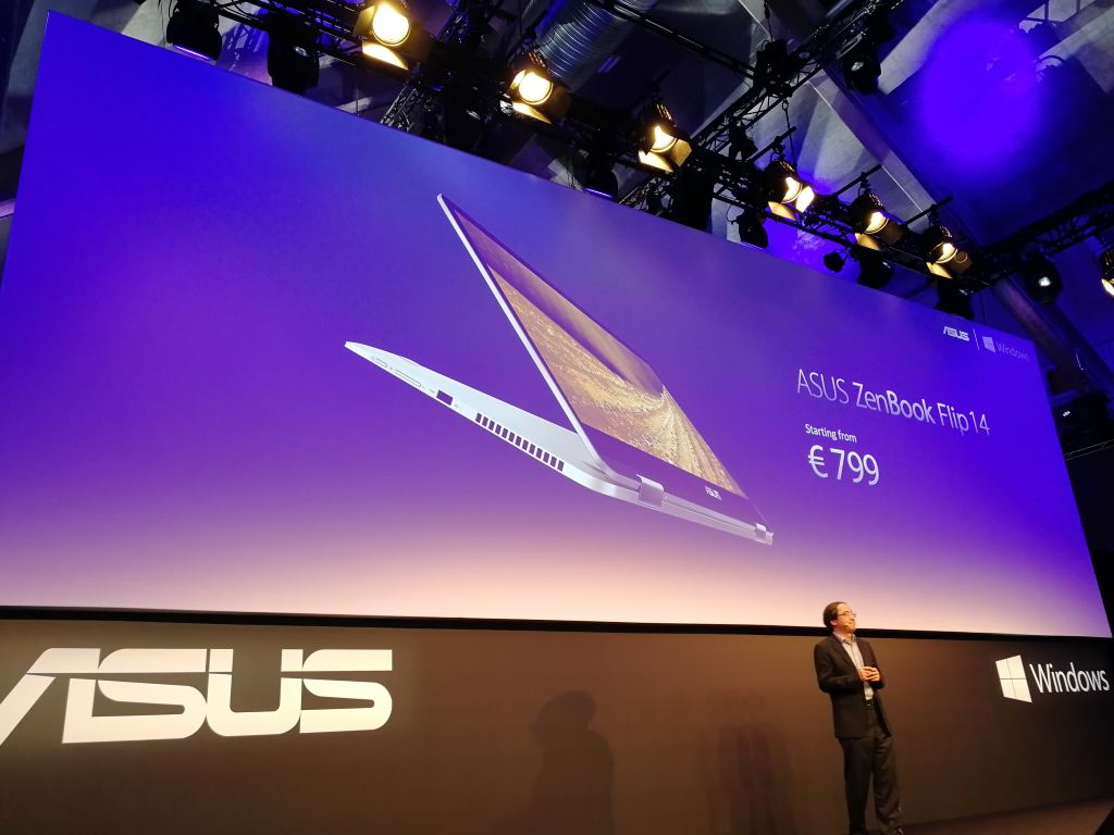 asus-zenbook-flip-14 [IFA 2017] Die Highlights von ASUS: Convertibles ab 400 Euro, MR-Headset und ROG Chimera mit 144-Hz-Display Asus Asus Computer Entertainment Gadgets Games Hardware Technology Windows