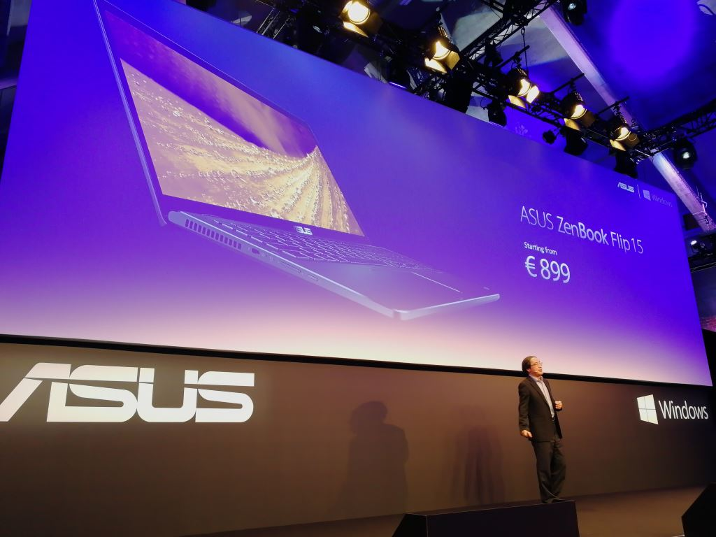 asus-zenbook-flip-15 [IFA 2017] Die Highlights von ASUS: Convertibles ab 400 Euro, MR-Headset und ROG Chimera mit 144-Hz-Display Asus Asus Computer Entertainment Gadgets Games Hardware Technology Windows