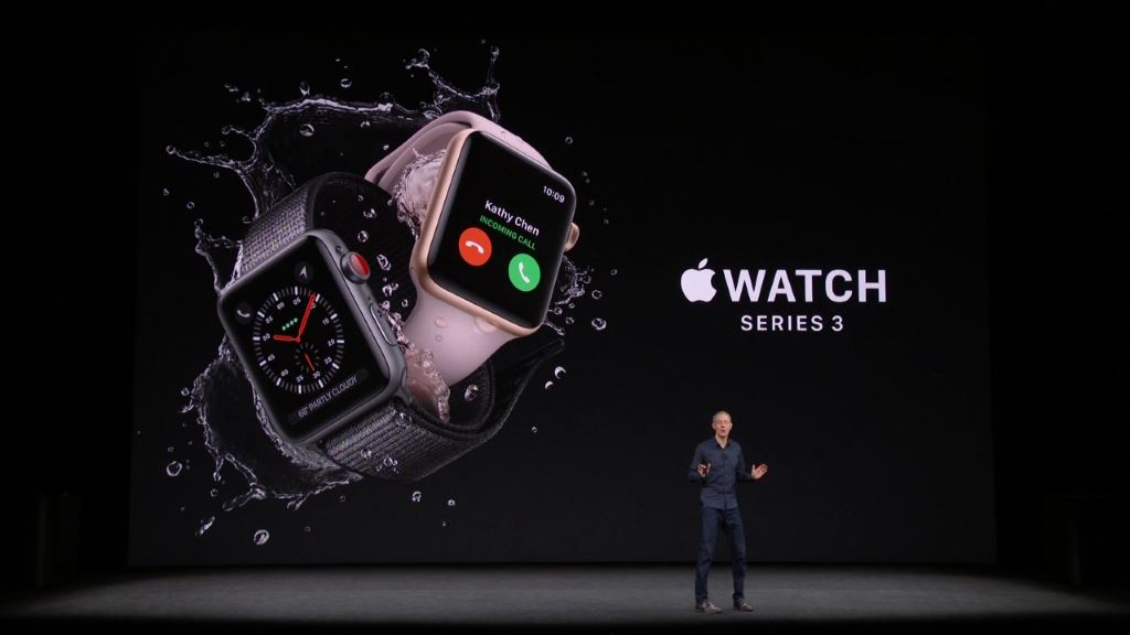 apple-watch-series-3-presentation Apple Watch Series 3 - jetzt auch mit LTE (bei der Telekom) Apple Apple iOS Gadgets Hardware Smartwatches Wearables YouTube Videos