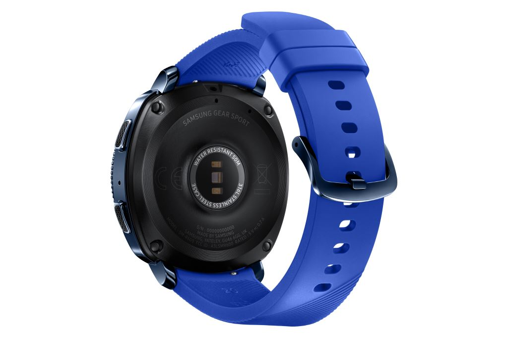 samsung-gear-sport-blue-back [IFA 2017] Samsung Gears Up - neue Wearables für den Herbst Audio Gadgets Google Android In-Ear Kopfhörer Samsung Smartwatches Technology Tizen Wearables YouTube Videos