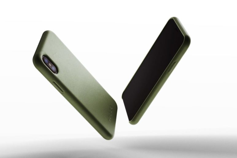 Mujjo - Full Leather Case for iPhone X - Olive