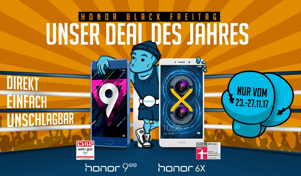 "honor-black-freitag-2017 Der ""Honor Black Freitag"" startet in 6 Stunden Gadgets Google Android Hardware Honor Netzwelt Shortnews Smartphones Web YouTube Videos"