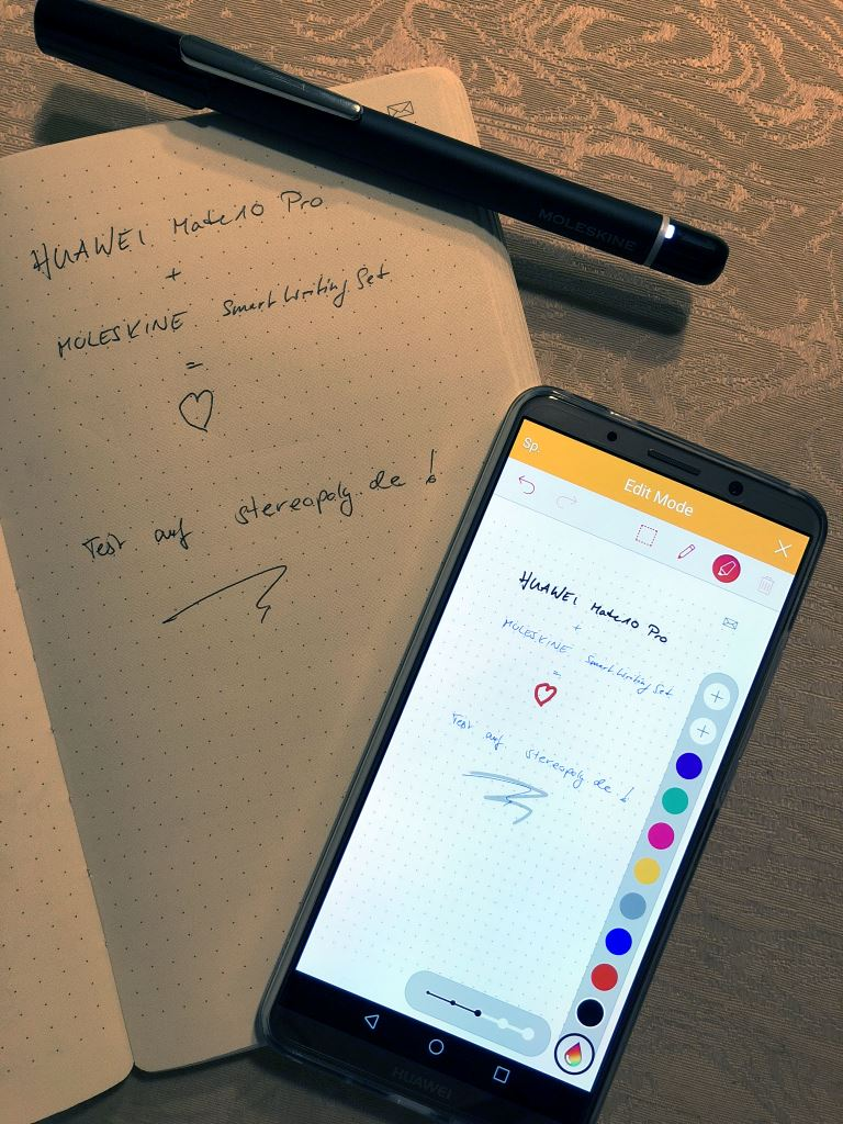 huawei-mate10-pro-moleskine-smart-writing-set-funktion HUAWEI Mate10 Pro mit Moleskine Smart Writing Set im Test Featured Gadgets Google Android Huawei Reviews Smartphones Tablet Technology Testberichte YouTube Videos