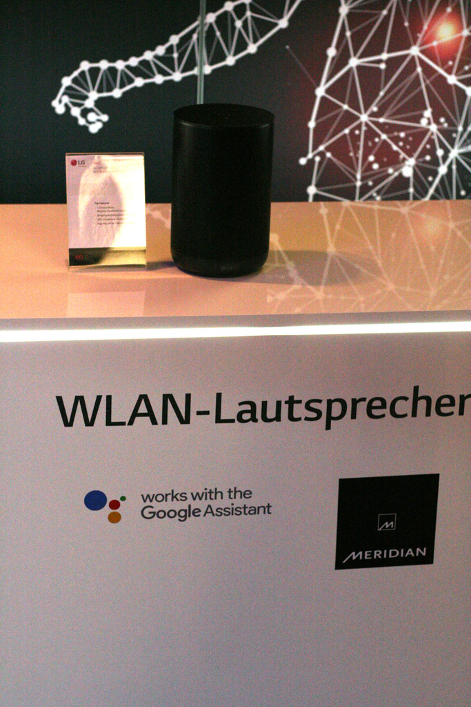 lg-wk7-wlan LG zeigt ThinQ-WLAN-Lautsprecher mit Google Assistant WK7 Apple iOS Audio Bluetooth-Lautsprecher Gadgets Google Android Hardware LG Multi-Room Smart Home