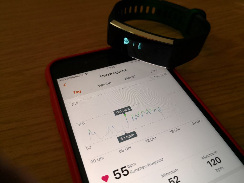 huawei-band-2-herzfrequenz HUAWEI Band 2 Pro - der Gesundheits- und Fitnesstracker mit GPS im Test Accessoires Apple iOS Featured Gadgets Google Android Hardware Reviews Testberichte Wearables YouTube Videos
