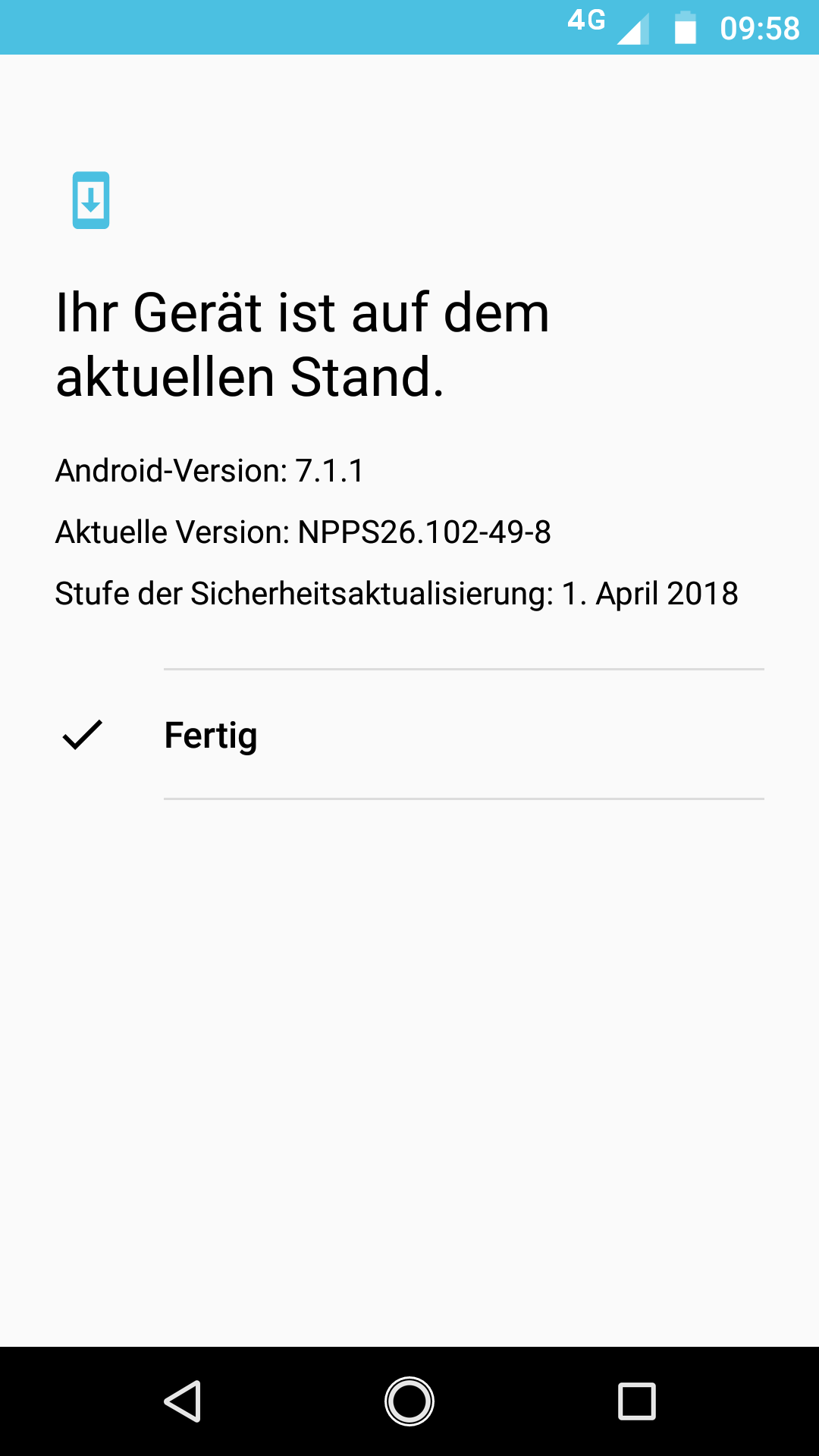 moto-g5s-screenshot-version Moto G5S & Moto G5S Plus - eine Vorgängergeneration im Test Featured Google Android Hardware Lenovo Motorola Reviews Smartphones Technology Testberichte