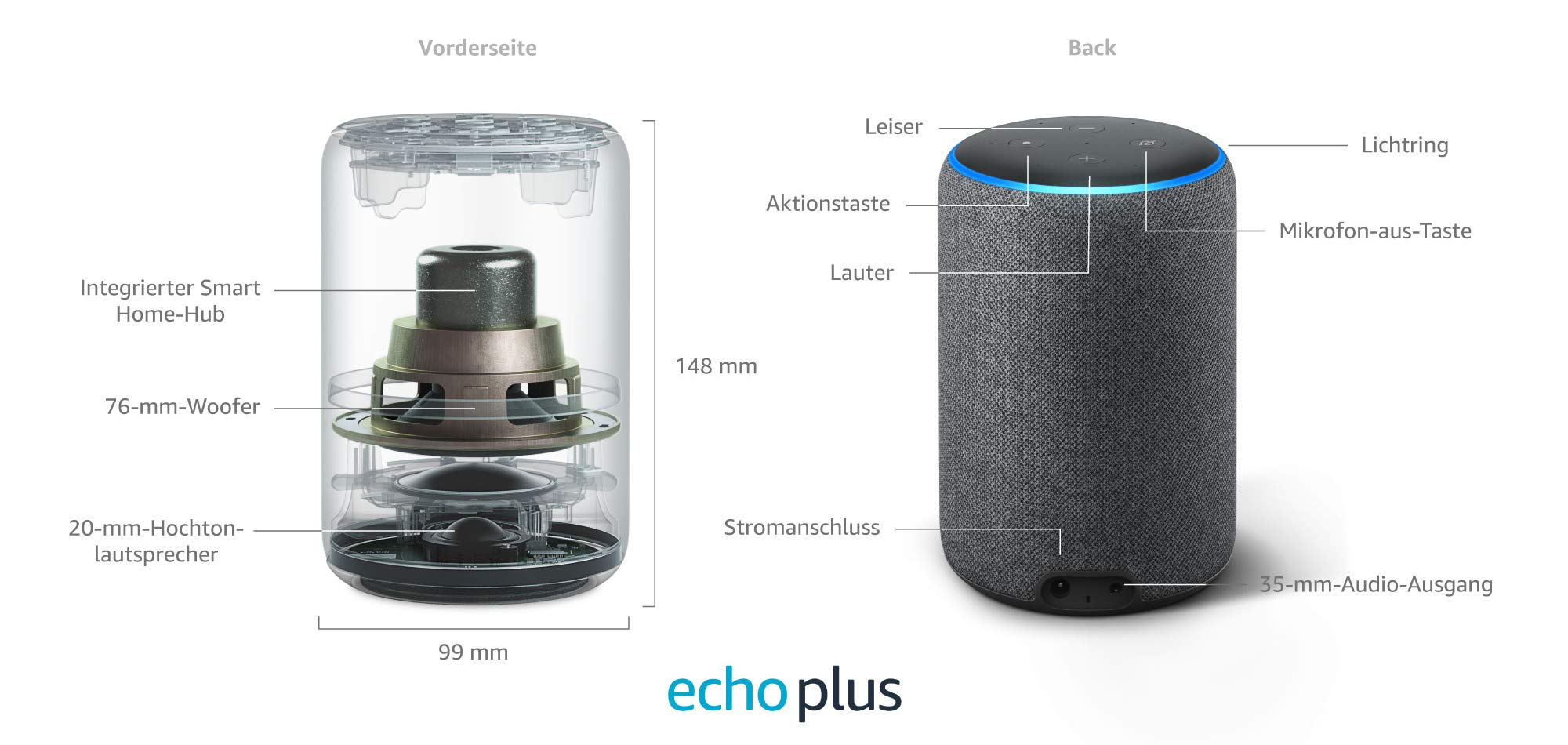 amazon-echo-plus-2gen Amazon bringt neue Echo-Familie & WLAN-Steckdose auf den Markt Audio Entertainment Hardware Multi-Room Smart Home